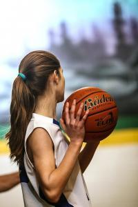 Girls Basketball Teenager Female Basketball Athlete