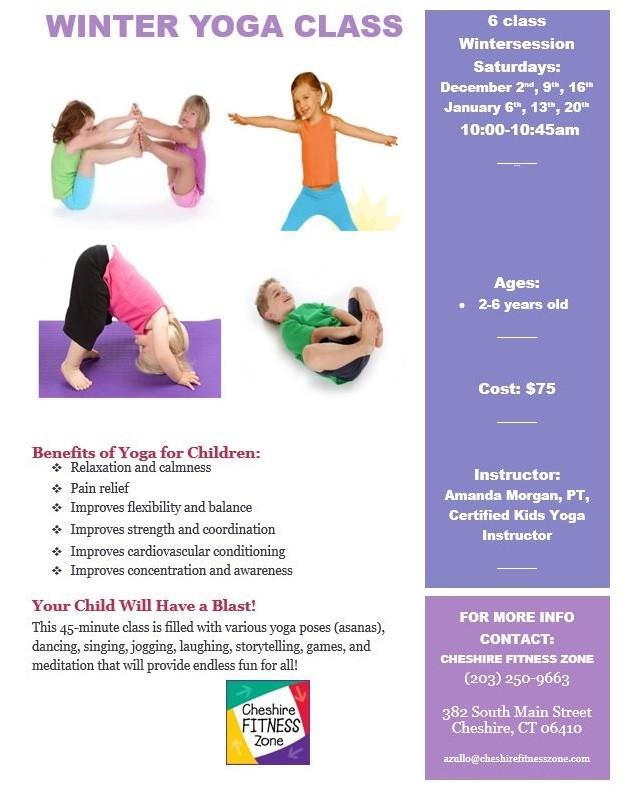 winter yoga class flyer