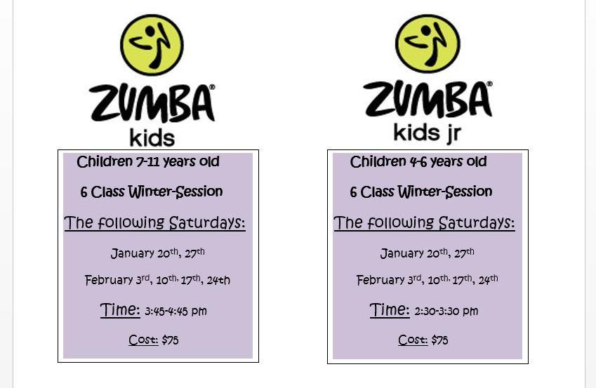 zumba for kids cheshire fitness schedule