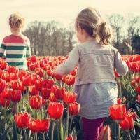 kids spring flowers