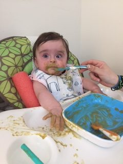 Infant messy eating