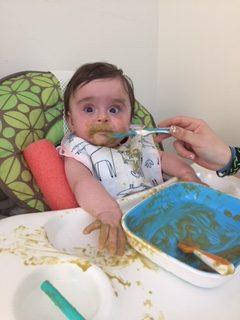 Infant messy eating