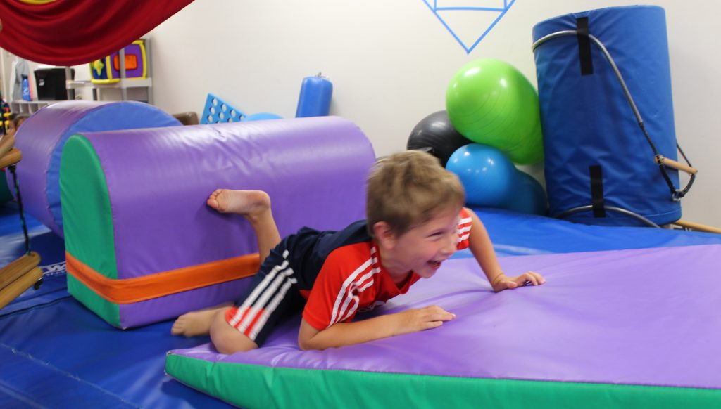 Child animal moving to benefit his core strength and mobility, while having fun!