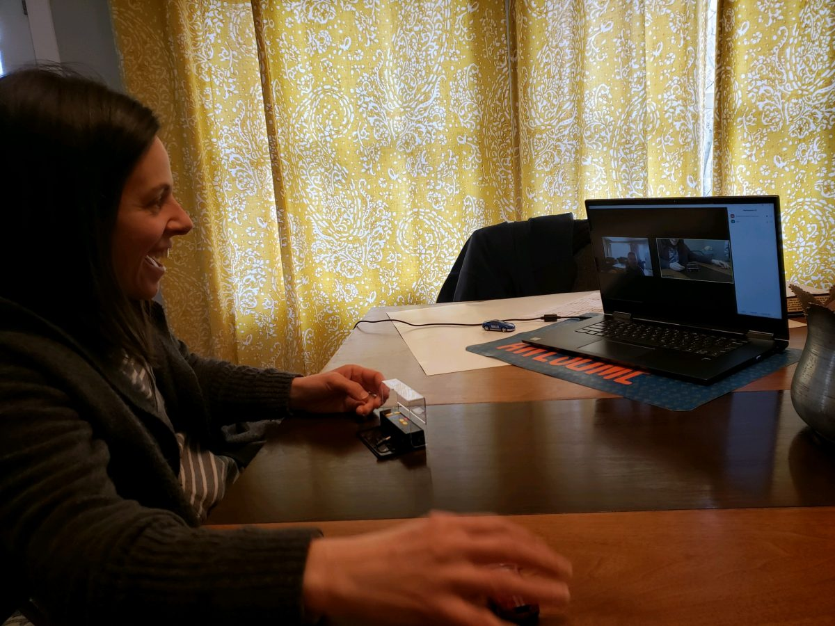 therapist providing telehealth session