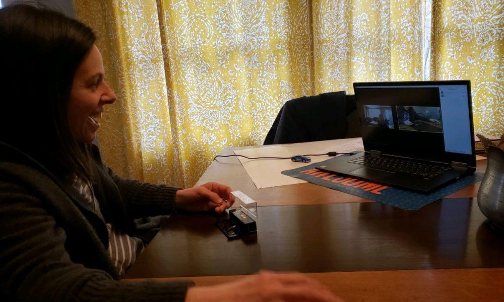 therapist providing telehealth session